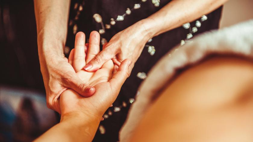 Hand Massage.